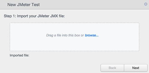 Upload JMeter Test