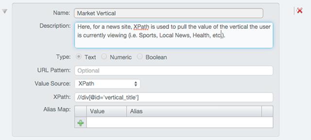 Defining a Dimension using XPath